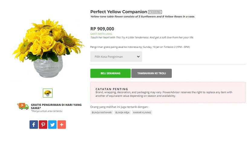 Bunga Matahari Flower Advisor