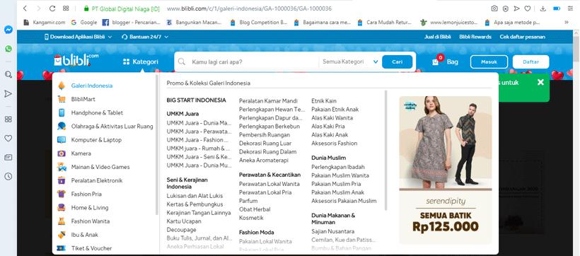 Blibli Menyediakan Puluhan Ribu Produk dalam 16 Kategori – Yakin Gak Mau Jualan Di Sini ?