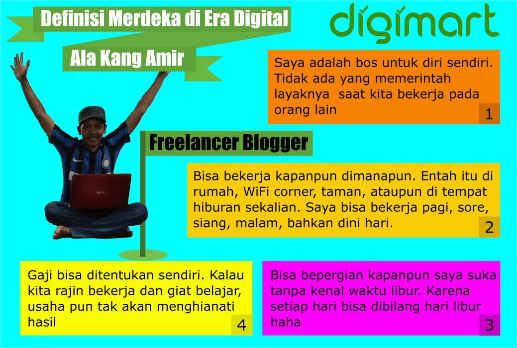 Merdeka di Era Digital ala Kangamir.com. Situs Freelancer Indonesia, Marketplace Produk dan Jasa Digital, DigiMart