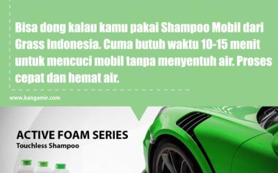 Cuci Mobil Tanpa Sentuh Permukaan Mobil ? Bisa Ko, Pakai Shampoo Touchless GRASS Indonesia Aja