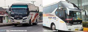 Bus Murni Jaya dan Sinar Jaya Kebumen Jakarta