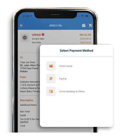 Payment Aplikasi Exabytes Indonesia