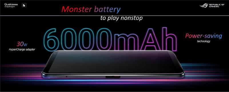 Baterai 6000 mAh ROG Phone 3