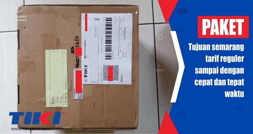 Paket tiki regular tujuan Semarang sampai dengan cepat