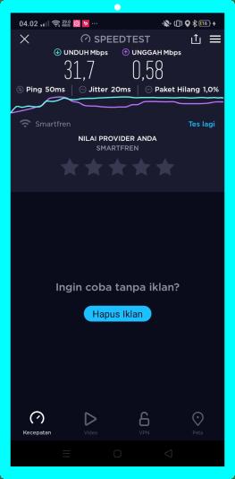 Speed Internet Smartfren