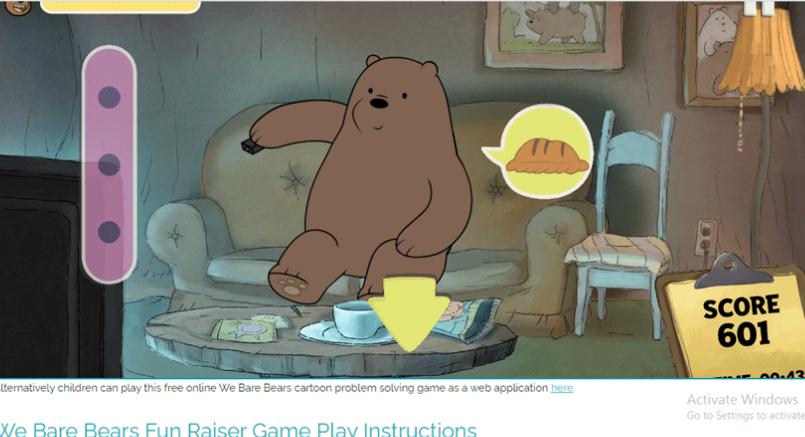 game-edukasi-untuk-anak-We-Bare-Bears-Fun-Raiser